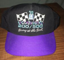 Vtg 1993 GM Goodwrench 200/500 Racing Nascar Purple Black Snapback Baseball Cap
