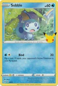 Sobble 24/25 Non Holo McDonalds 25th Anniversary Promo Pokemon Card - MINT