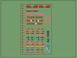 H0/1:87 DIS0309 Decals• Rücklichter für verschiedene Modelle