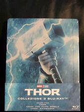 Thor Trilogy Blu-Ray Italy Steelbook New Sealed Region Free Marvel MCU Ragnarok