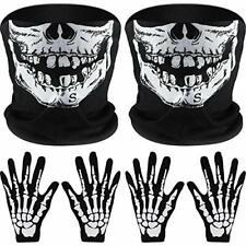 Mascara Disfraz Halloween Fantasma Capucha Cabeza Esqueleto Cráneo Pasamontañas