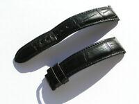 Glashütte Original Uhrenarmband Croco schwarz black Strap 19mm 80/110 I551