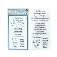 Motivationally Verses Cling Stamps Sentimentally Yours Words Stamp Set