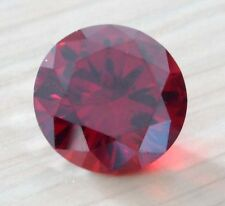 34.25ct Rare Unheated 18mm AAAAA Round Red Ruby Diamonds Cut VVS Loose Gems