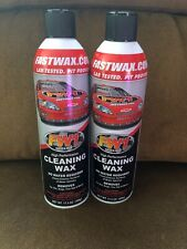 LOT of 2 FW1 High Performance Carnauba Cleaning Wax Waterless Wash & Wax Spray