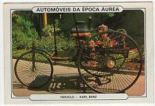 1986 Portugese Pocket Calendar Featuring Vintage Car - Benz Patent-Motorwagen