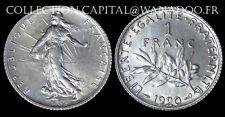 1 Franc 1920 Côte SPL 25€ FDC 35€ Argent/Silver