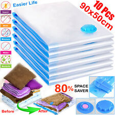 10 x Pack Vacuum Bags VAC Space Saving Saver Vacum Vaccum Strong Storage Bag UK