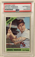 1966 Topps BROOKS ROBINSON Signed Baseball Card PSA/DNA #390 Baltimore Orioles