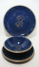 Disney Mickey Mouse Icon Ceramic 3Pc Set Dinner Plate Cereal Bowl Lunch Plate
