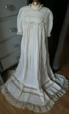 Fabulous! Antique Infant Christening Gown For Composition & Bisque Baby Dolls