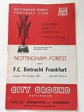 Nottingham Forest v Eintracht Frankfurt 1967-68 (Inter-Cities Fairs'Cup)