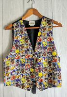 1994 Vintage Looney Tunes Vest Mens One Size Tweety Bugs Bunny Daffy Duck Rare