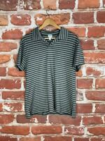 $325 Armani Collezioni M Italy Striped Designer Label Work Golf Wool Polo Shirt