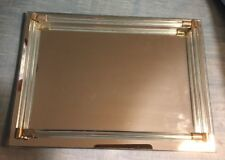 New ListingVintage Art Deco Mirrored Glass Footed Perfume Dresser Vanity Tray Glass Rods
