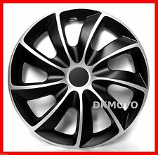 "13'' Wheel trims wheel covers for Opel 4 x 13""  full set black - silver"