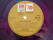 EX+ CAROLE KING WRITER 1ST PRESS: A1/B1 RED VINYL. UK A&M ODE VINYL LP AMLS 996