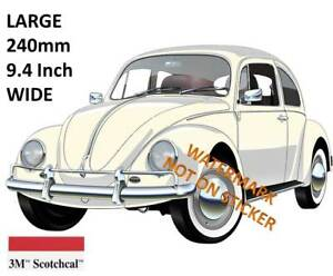 VINTAGE VW BEETLE DECAL STICKER LABEL LARGE 240 MM HOT ROD