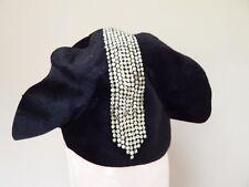 Vintage 1920s Black Fur w Rhinestones Lady's Hat H. Leh & Co