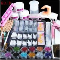 Acrylic Nail Kit Acrylic Powder Glitter Art Manicure Tool Tips Brush Set Decor