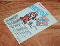 1990 Club Nintendo Postkarte Mitglied Werden Postcard Card Super Mario Land Bros