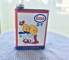 Bidon Huile Esso Vespa  2L ,no Castrol Shell Mobiloil Antar Yacco