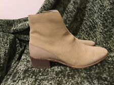 Coconuts by Matisse Tan Suede Ankle Split Front Booties Boots 8.5