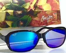 NEW* Maui Jim KOKI BEACH Black Tort w POLARIZED Blue Women's Sunglass MJ433-11T