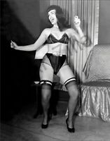 """Bettie Page Photo Retro Pin Up 025 Printed in Photo Lab 8""""x10"""" in"""