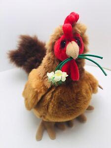 "10"" Dakin Lou Rankin Plush Chicken Skelly The Rooster Stuffed Animal Toy"