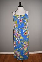 SUSAN GRAVER NEW $87 Printed Liquid Knit Sleeveless Maxi Dress XL