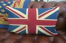 LARGE  ANTIQUE VINTAGE BRITISH UNION JACK FLAG TAPESTRY CUSHION COVER ONLY