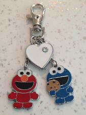 Cookie Monster Charm And Elmo Charm With Heart Charm Bag Charm Key Ring