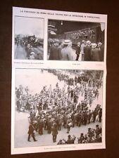 Guerra Italia vs Libia nel 1911 Roma Bersaglieri in partenza e richiamo del 1888