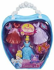 Disney Princess MagiClip CINDERELLA Fashion Bag With 3 Dress clips