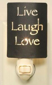 Country Farmhouse Metal Live Laugh Love Night Light Bronze