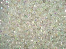 Beads Bicones 6mm Clear AB 25g Jewellery Fashion Plastic Acrylic FREE POSTAGE