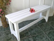 vintage style pine bench seat shabby chic rustic wooden bench 3 seater