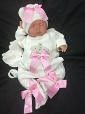 REBORN GIRL FIRST REBORN VALUE BABY BEAUTIFUL BLINGY ROMANY OUTFIT M PINK