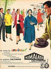 PUBLICITE ADVERTISING 114  1956  HIMALAYA   SALVIMPER   manteau veste popeline