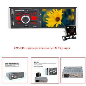 4.1 inch 12V-24V High Definition Touch Screen Car MP5 Player with Camera 3 USB