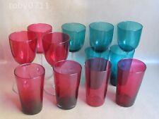 Mirtillo e Verde di vetro-gruppo di Bicchieri da Cocktail & Bicchieri da Vino Vintage (Ref2589)