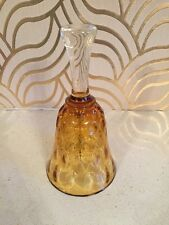 Lovely Dimpled Amber Glass Bell