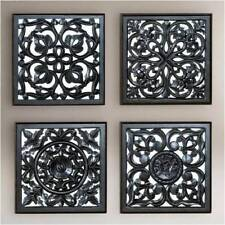 Wall Panel set for Living Room Black Antique finish MDF