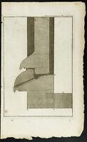 1777 - Gravure ancienne de menuiserie fenêtre - Académie Royale des Sciences