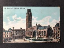 Vintage Real Photo Postcard #TP1053: St Botolphs Church, Boston Posted 1916