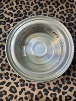 Vintage Poole Pewter Pierced Wine Bottle Coaster Holder 2243 Bowl 6-1/2