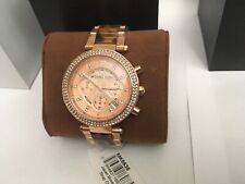Michael Kors Parker 39mm Rose Gold Blush Tortoise Acetate Ladies Watch (MK5538)