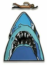 Jaws Movie Midnight Swim 2 Piece Enamel Metal Logo Pin (FANTASTIC!)