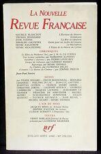La Nouvelle revue française 330-331 juillet-août 1980 TBE